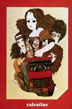 Olivetti Valentine Poster by ninonbooks, via Flickr (ad)