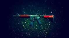 Download M4A4 Bullet Rain Rifle Counter Strike Global Offensive Weapon Skin 1920x1200
