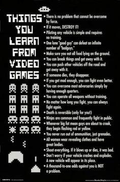 Things You Learn From Video Games   Amanda Blain Geek Girl