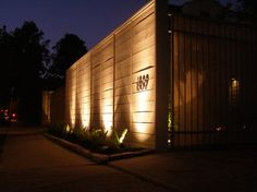 Cool Lighting On A Boring Wall. Potomac Courtyard   Contemporary   Entry    Houston