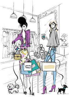 Image from http://arhitekturaplus.files.wordpress.com/2013/04/megan-hess-illustrations-art-artwork-fashion-arhitektura-1.jpg.