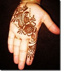 I want to get henna this summer.  flower flourish on palm