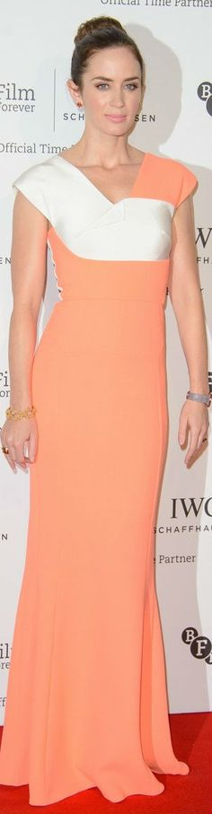 Emily Blunt In Roland Mouret – BFI London Film Festival IWC Gala Dinner