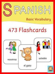 This set contains 473 Spanish flashcards. Topics covered in this set are:- adjectives- animals- body- seasons- clothes- colors- family- emotions- food- house  rooms, furniture, appliances- professions- environment- countries  nationalities, languages- numbers- places in town- prepositions- pronouns  subject, direct object, indirect object- school objects- transportation- verbs  free time activities, daily routine, chores- weatherPlease note: This product is also part of my Spanish…