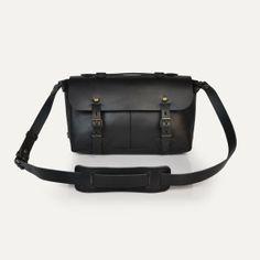 Sac plombier Louise, Noir - Louise Plumber bag, Black. Bleu de Chauffe. #satchel #bag #madeinfrance