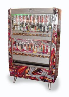 Art-o-mat. Pull the knob and become an art collector! There are around 400 contributing artists from 10 different countries currently involved in the Art-o-mat project. Access Gallery Denver, CO Cigarette Vending Machine, Art O Mat, Small Words, Repurposed Items, First Art, Dark Fantasy Art, Selling Art, Affordable Art, Graffiti Art