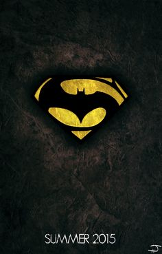 Batman Versus Superman 2015  Now this is a logo/poster I could get behind for the upcoming movie!