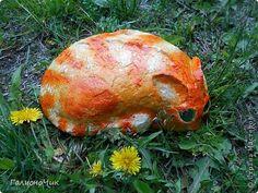 Декор предметов Мастер-класс Лепка Роспись Кошка и Рыба-садовые камни Бумага Камень Краска фото 19