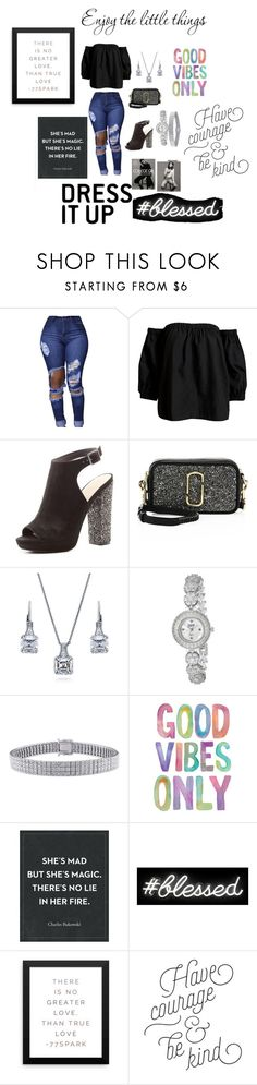 """""""Good Vibes Only"""" by tar1234 ❤ liked on Polyvore featuring Sans Souci, Charlotte Russe, Marc Jacobs, BERRICLE, bürgi, Ice, Oliver Gal Artist Co., collegegirl and enjoylittlethings"""
