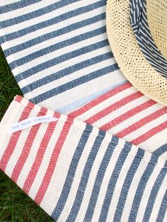 Large (59x86) Striped Picnic Blanket @ The New Domestic