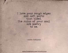 I love your rough edges. @MasterDaRican