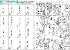 """Con ésta ficha trabajamos producto y división de número decimales por la unidad seguida de ceros. Nos la ha enviado el profesor de Matemática – FísicaReynaldo Oswaldo Cartolín Rosado desde el Colegio San Antonio Marianistas del Callao, Lima, (Perú). DESCARGAR: """"PLANTAS VS ZOMBIES""""  Si compartes este material: Nuestro material …"""