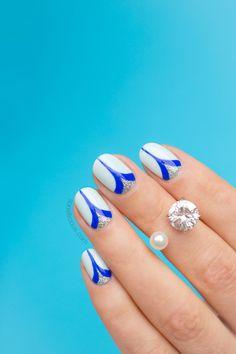 Tutorial: 'Double Spike' Elegant Nails