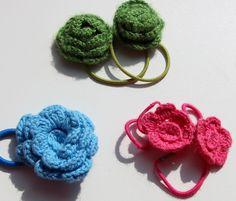 Gomas para el pelo crochet