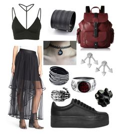 """""""Untitled #5"""" by missnightshine on Polyvore featuring Oh My Love, Free People, Trend Cool, Kenneth Cole Reaction, Jeffrey Campbell, French Connection and Macabre Gadgets"""