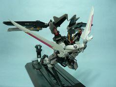 GAT-X105E Strike Noir Gundam with AQM/E-X09S