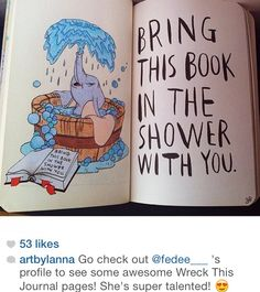 Little dumbo, bring this book in the shower with you, wtj