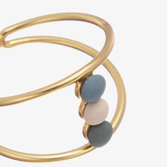 Microdot Ring - Gold/Blau/Grün - alt_image_two