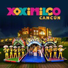 Disfruta de una auténtica fiesta mexicana llena de fiesta, música y tradición en Cancún, en su versión moderna del legendario paseo por los canales