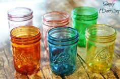 DIY Crafts | How to tint mason jars with beautiful jewel tones