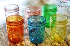 DIY Crafts | How to tint mason jars with beautiful jewel tones