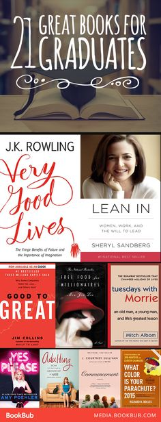 21 great books for graduates, including inspiring nonfiction books with valuable life lessons. These would make great gift ideas for teens and young adults too.