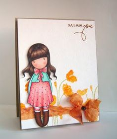 Love this card!!! I love the Botanicals stamped in the background and the little Gorjuss Girl stamp.  http://aliceslittlewonderland.blogspot.com/2011_07_01_archive.html