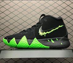 06e5ede1cb2 Men s Nike Kyrie 4 Halloween Black Rage Green 943806-012 Green Basketball  Shoes