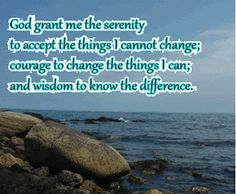 Smile will save the day: Animated gifs of Serenity Prayer