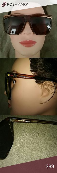 LAURA BIAGOTTI TORTOISE BROWN SUNGLASSES MADE IN ITALY. MODEL IS P18. THEY DO HAVE PRESCRIPTION LENSES IN THEM. NEW CONDITION. LAURA BIAGOTTI Accessories Sunglasses