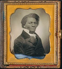 Frederick Douglass: ca. 1855.  I have seen this daguereotype in person.  Very tiny and silvery.