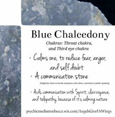 Blue Chalcedony crystal meaning