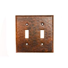 Copper Switch Plate Double Toggle Switch Cover - Oil Rubbed Bronze