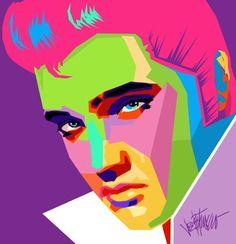 Painting of Elvis Presley by Joe Petruccio