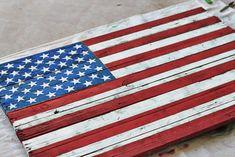 DIY American pallet wood flag