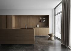 A minimalist kitchen is easy to clean and maintain. It looks chic and in tune with modern interior décor. Minimalism helps to relieve the clutters of a small home as well as a spacious one. Kitchen Pantry Cabinet Freestanding, Kitchen Pantry Cabinets, Mt Design, Layout Design, House Design, Diy Kitchen Decor, Kitchen Interior, Home Decor, Minimalist Kitchen