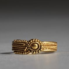 """ancientjewels: """" Etruscan gold ring, c. 525-330 BCE. From the collection of Thorvaldsens Museum. """""""