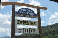 Montana Whitewater Main Entrance on highway 191 in Gallatin Canyon Have combo raft and horseback ride Fly Fishing Lessons, Gallatin River, Visit Yellowstone, Whitewater Rafting, Main Entrance, Rv Travel, Big Sky, Horseback Riding, Wyoming