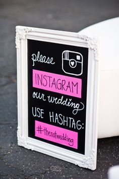Create a unique hashtag and ask your guests to instagram your wedding! This allows you to see your special day from the eyes of your guests!