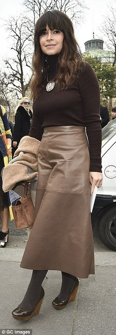 Olivia Palermo is typically stylish as she attends Paris Fashion Week #dailymail