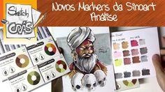 Novos kits de MARKERS da SINOART, análise - Sketch Crás