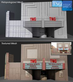 This is the second part of our Lidar like scanning where we finish the modeling, UV's and Textures to create the TNG movie house. It could be any building www.tngvisualeffects.com