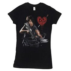 The Walking Dead Daryl Crossbow Hearth Wings Juniors Tee Changes M @ niftywarehouse.com #NiftyWarehouse #WalkingDead #Zombie #Zombies #TV