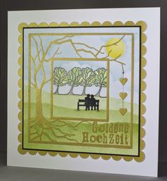 Claritystamp Wee Folk and Tree Box Frame Stencil. Tree Stencil, Stencils, Barbara Gray, Tree Box, Penny Black Stamps, Box Frames, Stamping Up, Anniversary Cards, Clarity