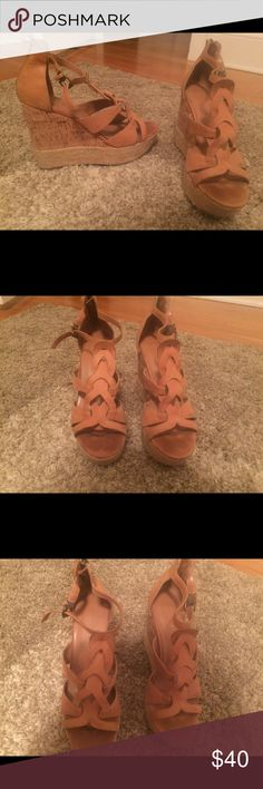Dolce vita tan wedges Worn a few times- in perfect condition DV by Dolce Vita Shoes Wedges