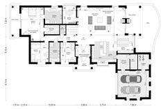 Projekt domu Rezydencja Parkowa - 258,96 m2 - koszt budowy 374 tys. zł Home Design Floor Plans, My House Plans, Bungalows, Exterior, House Design, Flooring, How To Plan, Wood Flooring, Bungalow