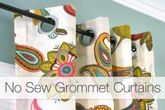 no sew grommet curtains