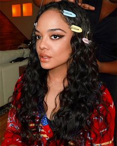 We are in Brazil ! 🇧🇷 Sultry vibes on ✨ Tessa Thompson ✨today to announce at Brazil Comic con . Celebrity Beauty, Celebrity Crush, Pretty People, Beautiful People, Coloured Girls, Actor Model, Celebs, Celebrities, Brown Skin