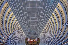 Jin Mao Tower, Shanghai    View of the atrium from the 80th floor looking down to the lobby    The key tenant in China's Jin Mao Tower is the Shanghai Grand Hyatt, which occupies floors 53 through 87 of the soaring 1,381-foot (421 m) structure.