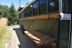 Planning a school bus conversion? Take a look at these famous converted bus homes (skoolies) to draw inspiration and build one of your own. School Bus Tiny House, Old School Bus, Converted School Bus, Bus Remodel, Bus Living, Senior Living, Short Bus, School Bus Conversion, Mini Bus